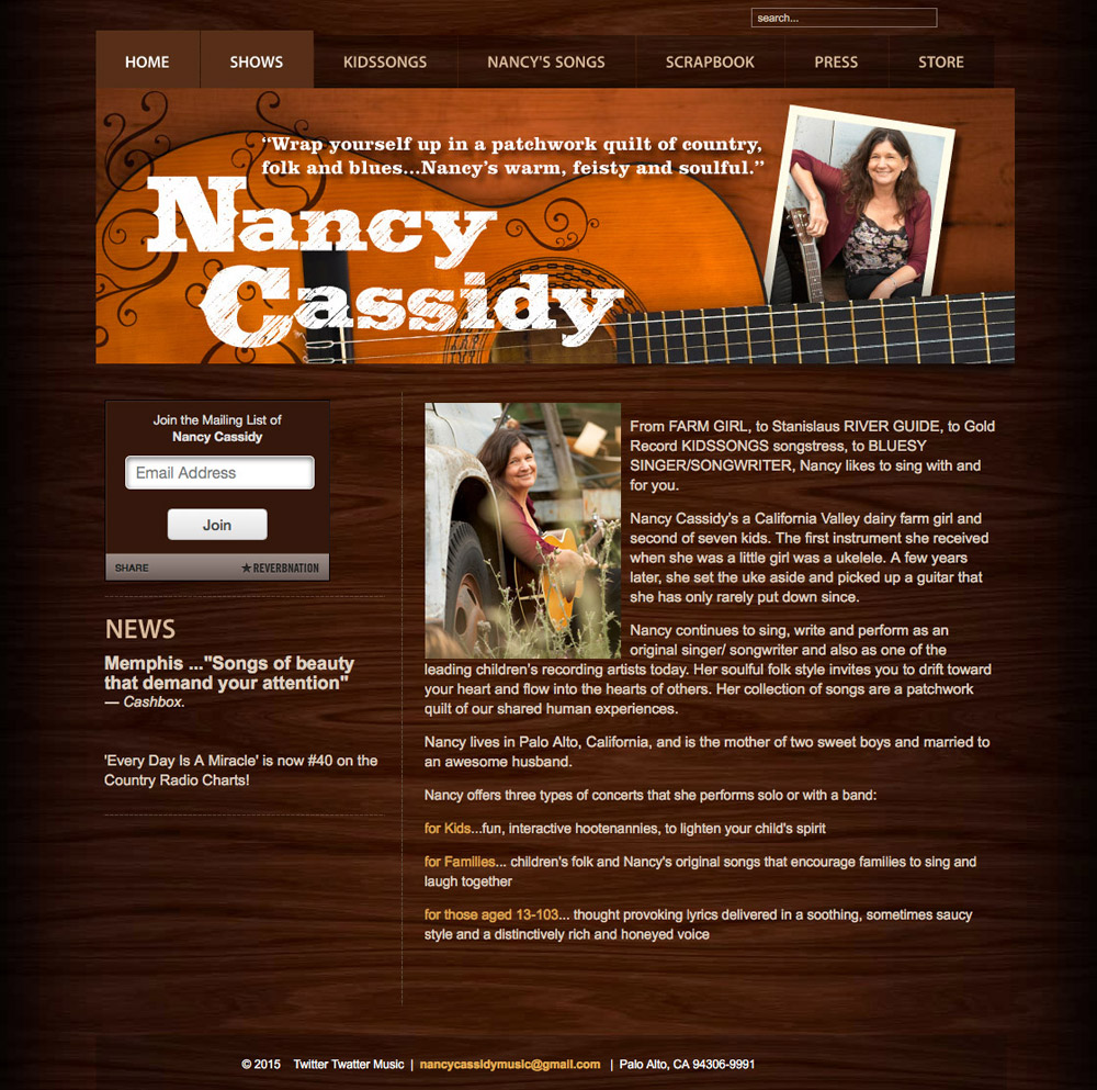 Nancy Cassidy Music